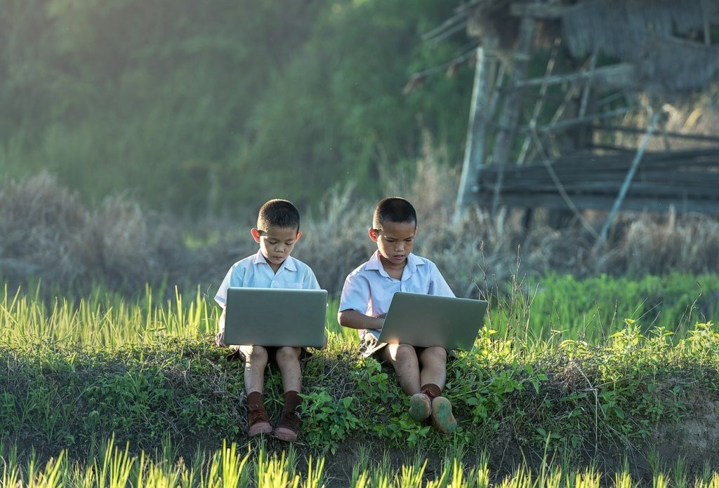 children, study of, laptop