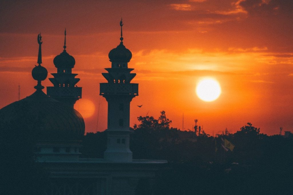 mosque, sunrise, architecture